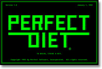 Perfect Diet logo screen